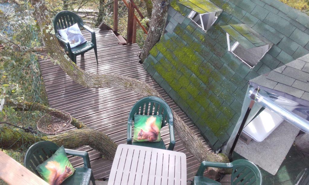 Vue Plongeante - Cabane Perchée dans les Arbres Chambre d'Hôtes Insolite Monès 31370